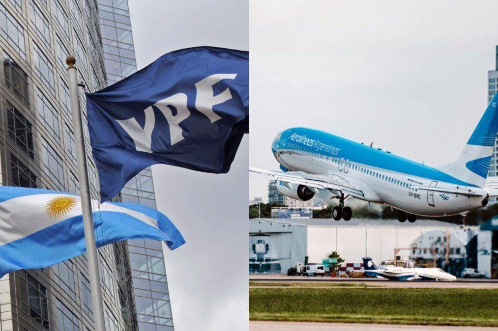 YPF y Aerolíneas Argentinas