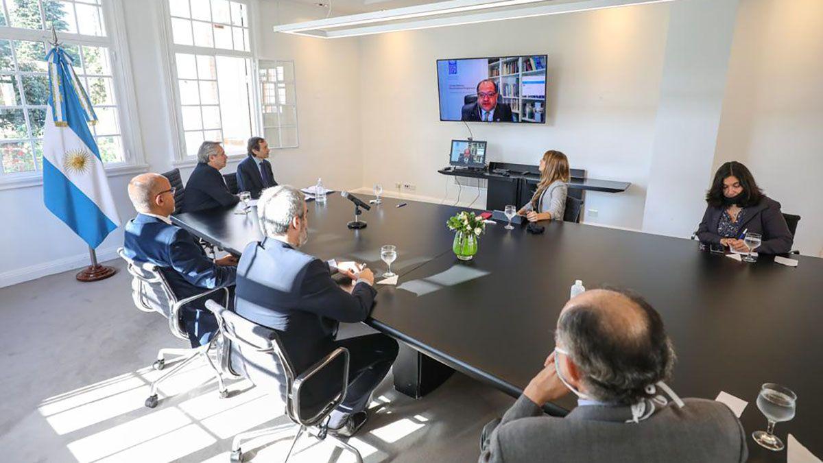 Alberto Fernández encabezó una reunión por videollamada con representantes de las Naciones Unidas.