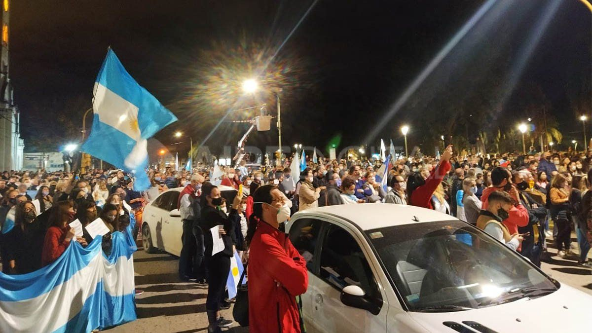 La masiva protesta se trasladó hasta la ciudad de Reconquista