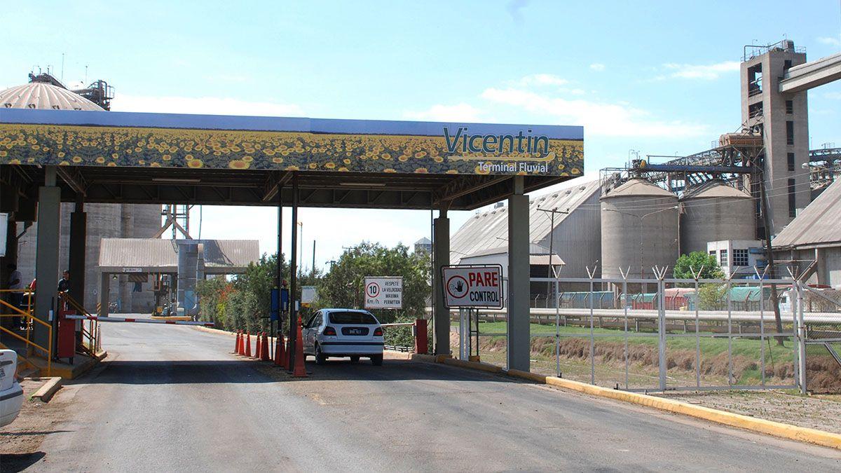 Ingreso a la planta de la empresa Vicentín.