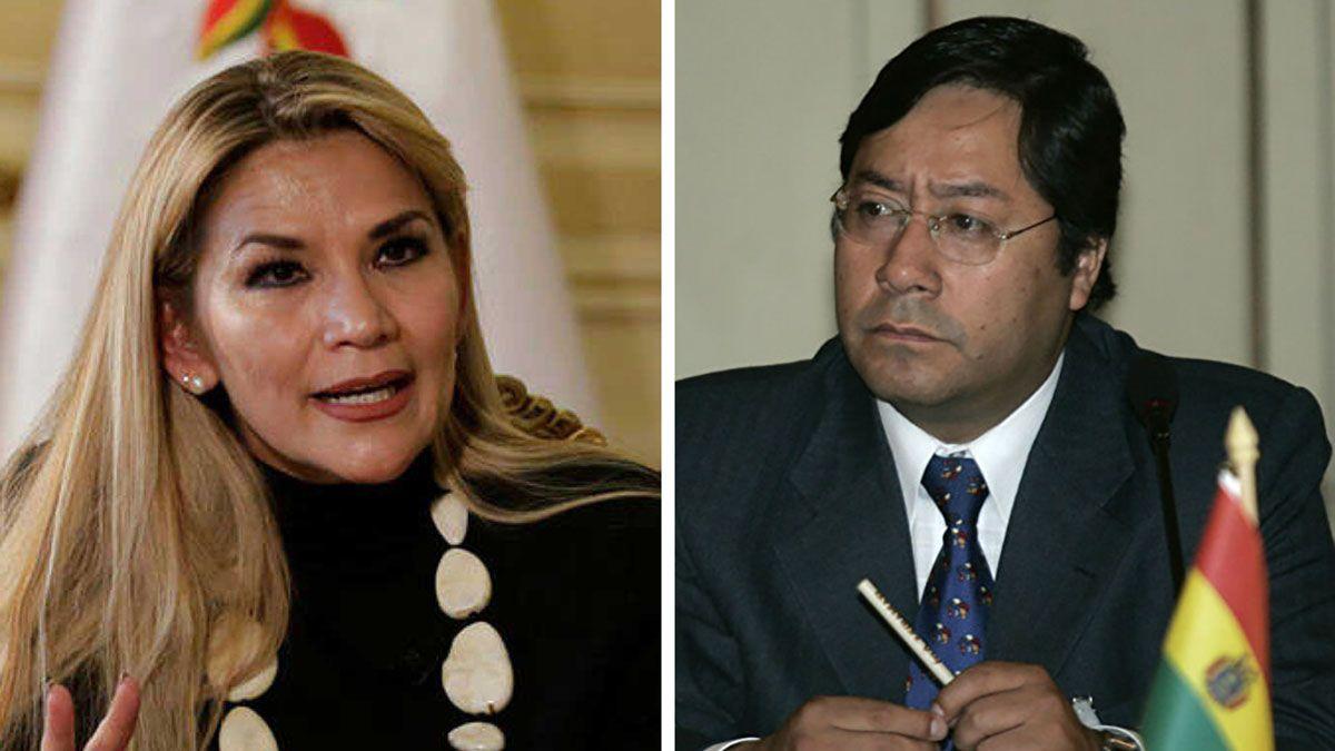 La presidente de Bolivia