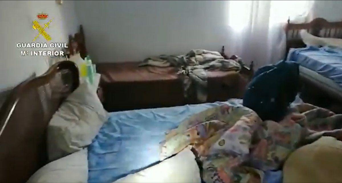 Así es como vivían los jóvenes víctimas de una red de trata que actúa en España y Sudamérica.