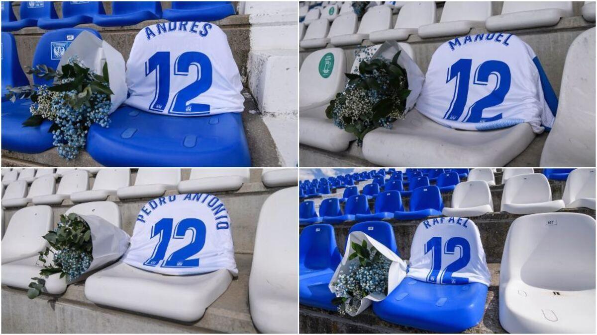 Leganés recordó a sus socios fallecidos durante la pandemia en el retorno de La Liga