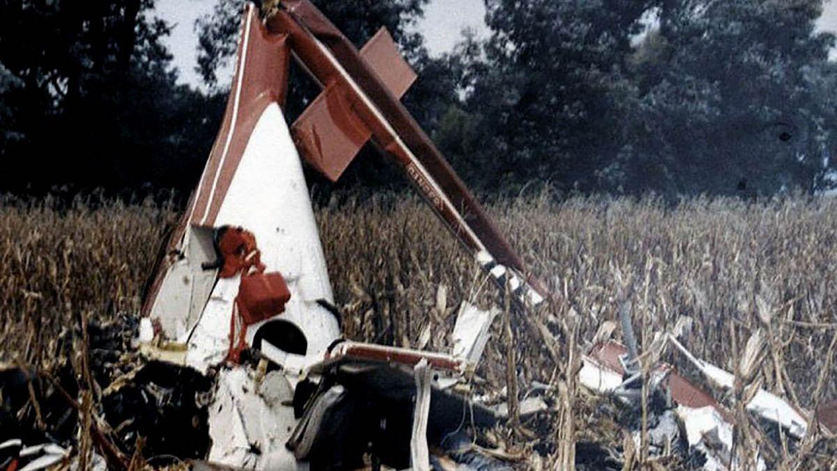 Así quedó la avioneta de Carlos Nair, el hijo de Menem, tras el sospechoso accidente que sufrió en 1995.