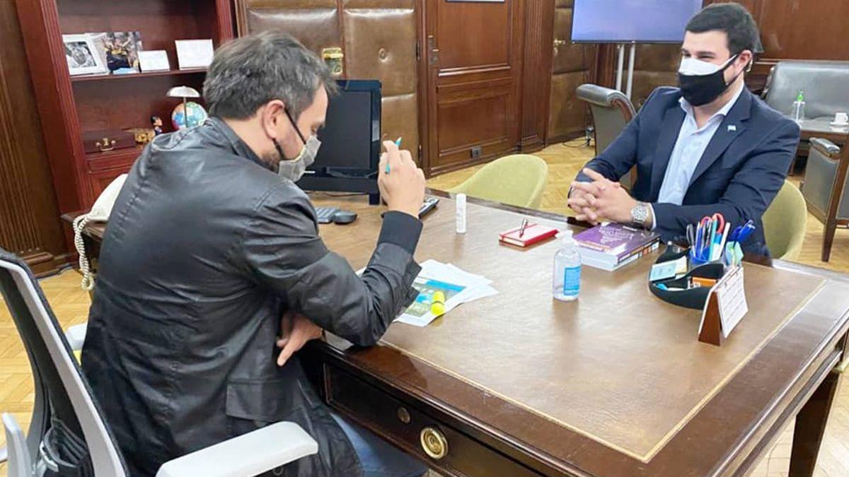 Marcos Cleri y el ministro Cabandié analizaron la situación en las islas y la iniciativa de un Nuevo Pacto Ecosocial