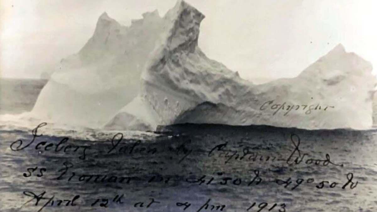 Tras 108 años, salió a la luz fotografía del iceberg que hundió al Titanic y la van a subastar