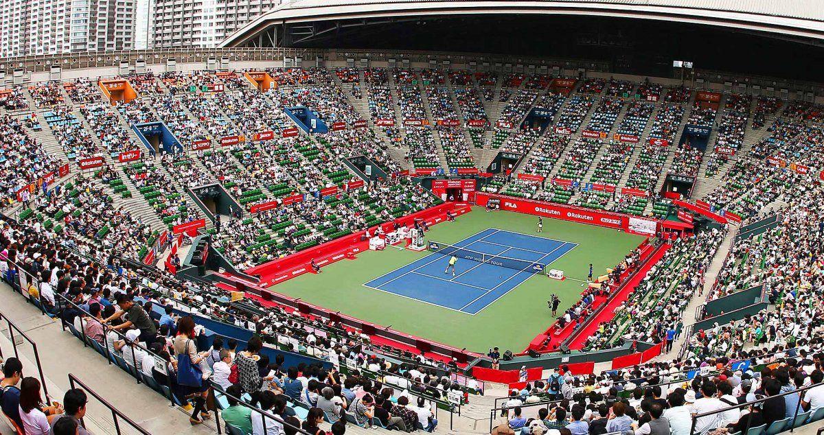 El estadio principal del ATP 500de Tokio.