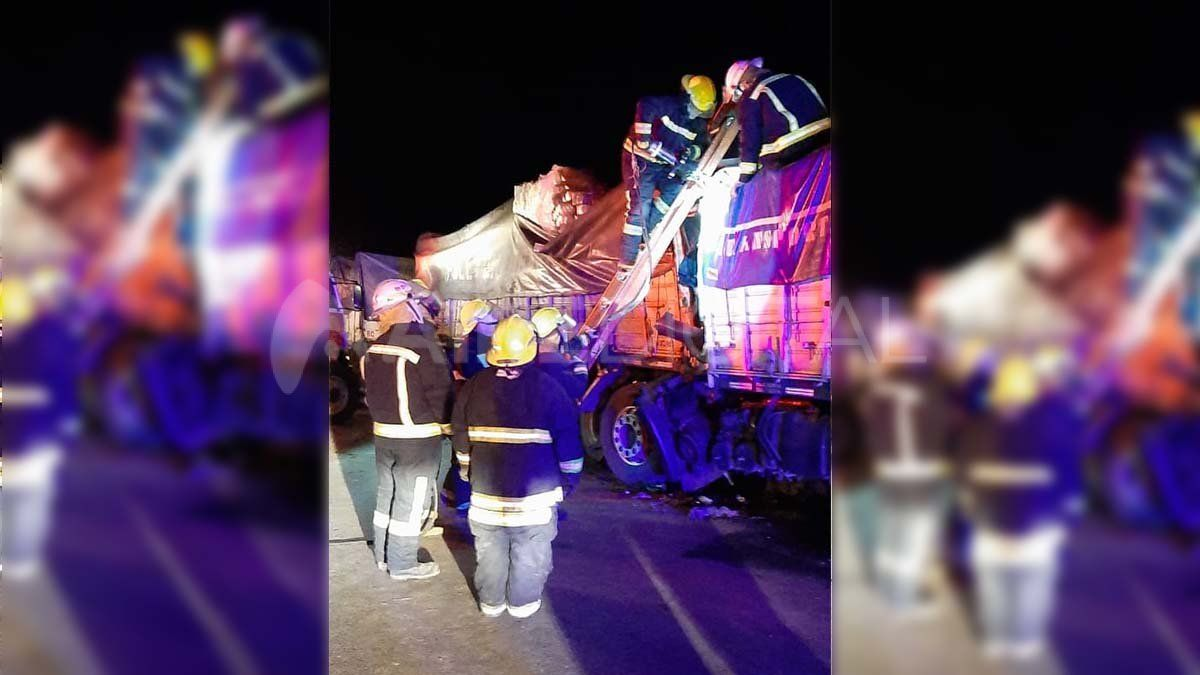 Accidente de tránsito en la ruta 34 - chocaron tres camiones