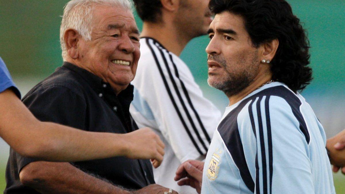 Maradona y el recuerdo de Don Diego en su Instagram: Te extraño, viejo, no podías ser más bueno