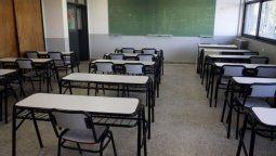 Por la pandemia, las aulas continúan vacías.