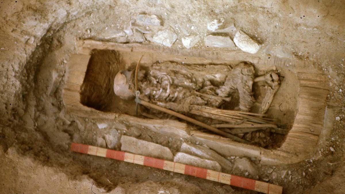 Restos de una guerrera escita hallados en el sitio arqueológico de Saryg-Bulún
