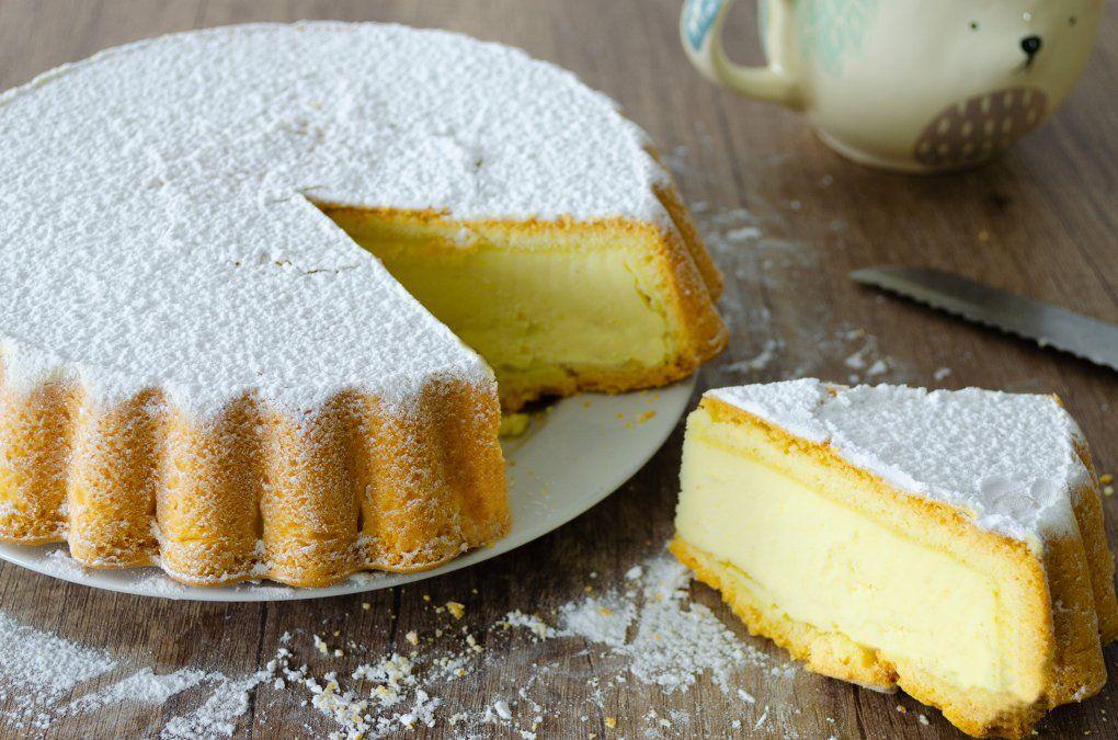 Tarta de ricota y limón para la merienda.