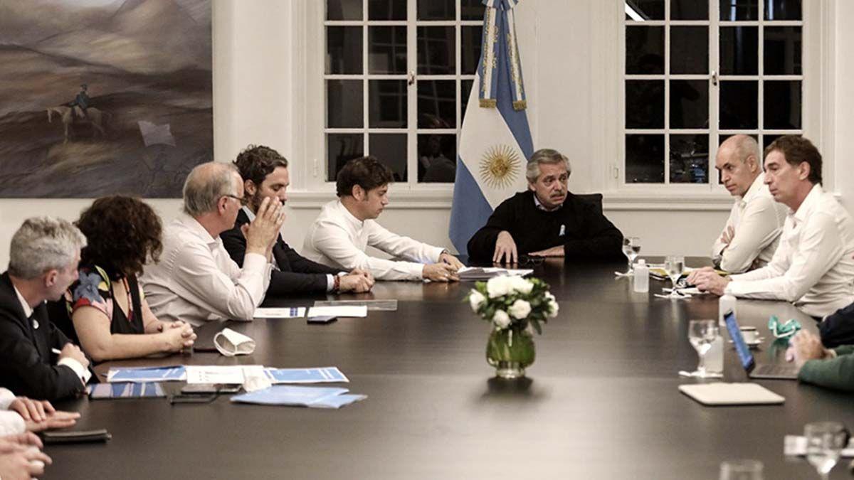 La reunión fue en la Quinta Presidencial de Olivos desde el mediodía y se extendió por dos horas.