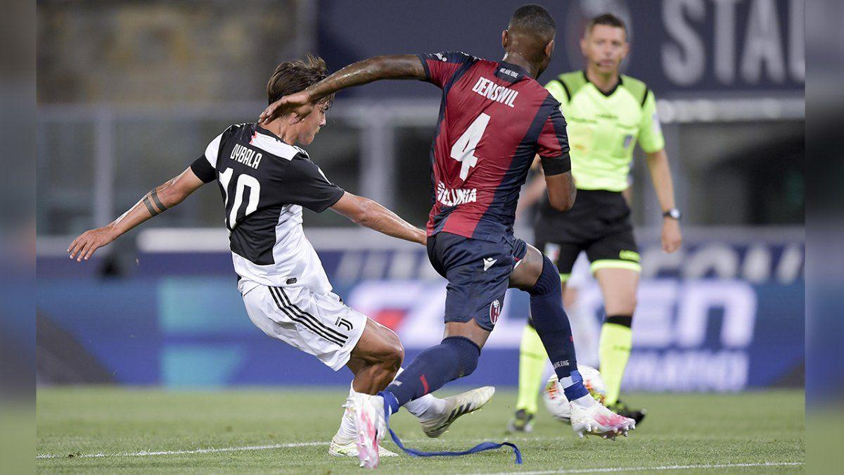 El argentino Dybala marcó uno de los dos goles del triunfo de la Juventus ante el Bologna. El otro tanto fue convertido por Cristiano Ronaldo.