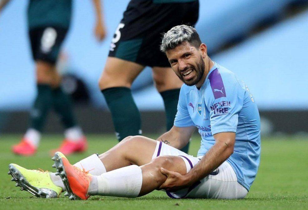 Alarma por la lesión del Kun Agüero luego de la victoria del Manchester City
