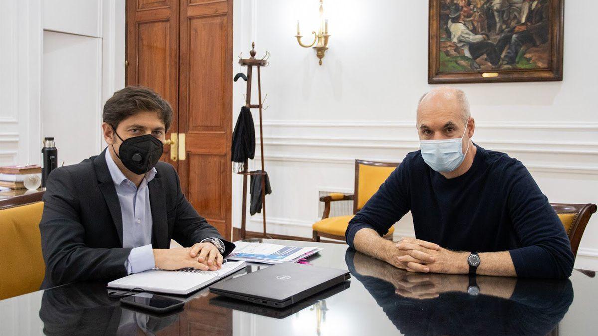 Los mandatarios porteño y bonaerense mantienen reuniones a diario desde hace una semana y evalúan cómo continuará la cuarentena en el Amba.