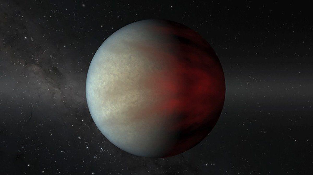 Esta imagen muestra un tipo de planeta gigante gaseoso conocido como Júpiter Caliente que orbita muy cerca de su estrella. Encontrar más de estos jóvenes planetas podría ayudar a los astrónomos a comprender cómo se formaron y si migran de climas más fríos durante sus vidas.