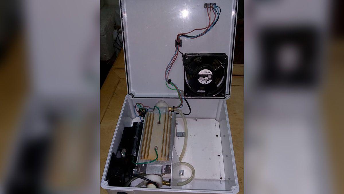 Generador de ozono utilizado en las pruebas.