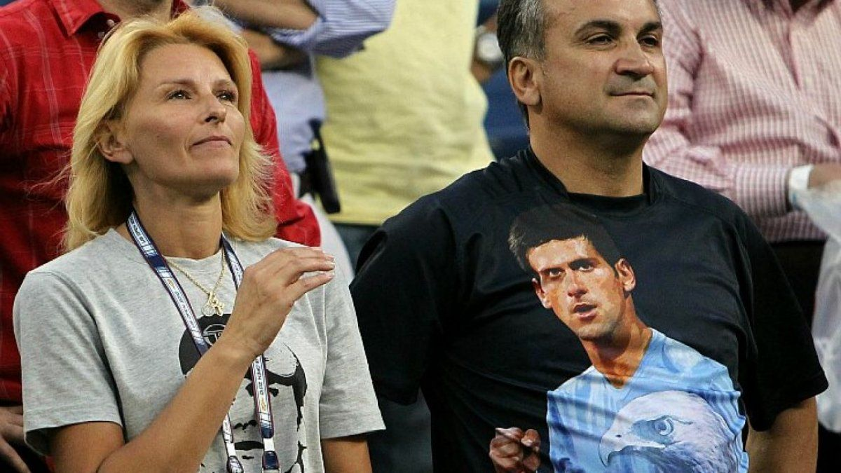Los padres de Novak Djokovic.
