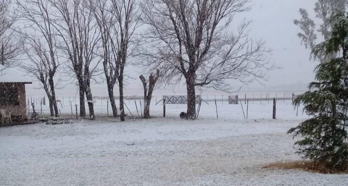 Fuertes nevadas en Chubut.