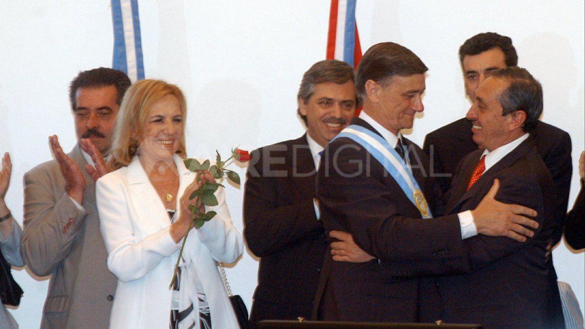 Hermes Binner y Griselda Tessio asumieronel gobierno de la provincia el 10 de diciembre de 2007.