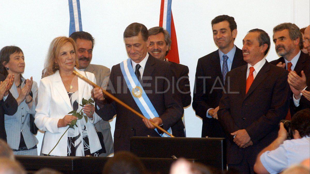 Binner recibió el bastón de mando del exgobernador Jorge Obeid.
