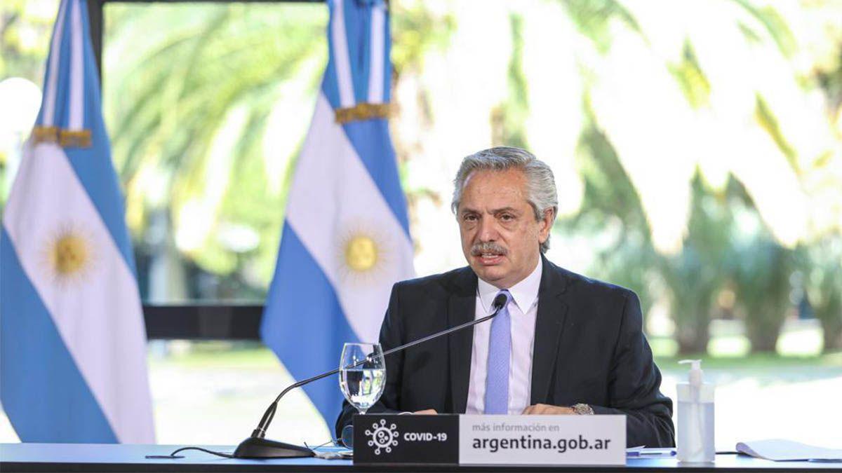 El presidente Alberto Fernández anunció las nuevas medidas de cuarentena junto a Horacio Rodríguez Larreta y Axel Kicillof.