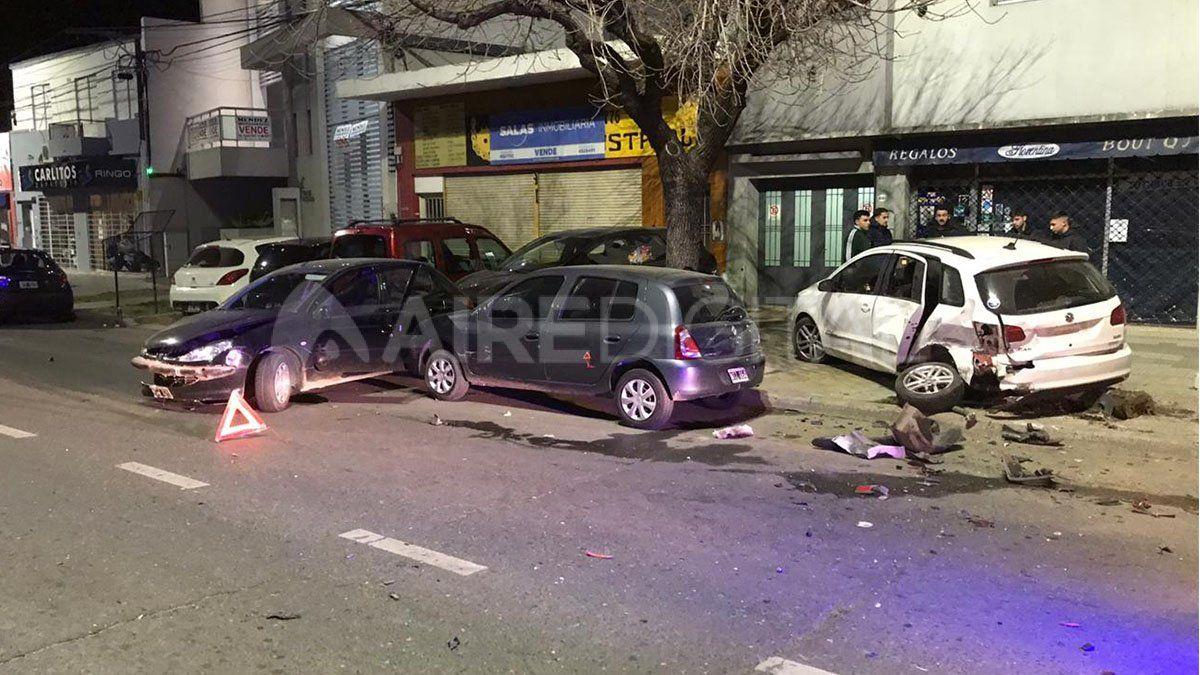 Cuarentena agitada: dos impresionantes accidentes en la ciudad