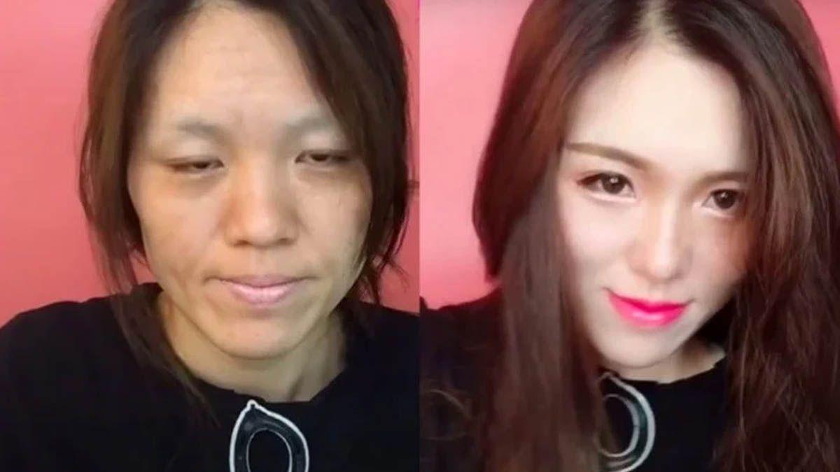 Video: una mujer muestra el increíble poder del maquillaje