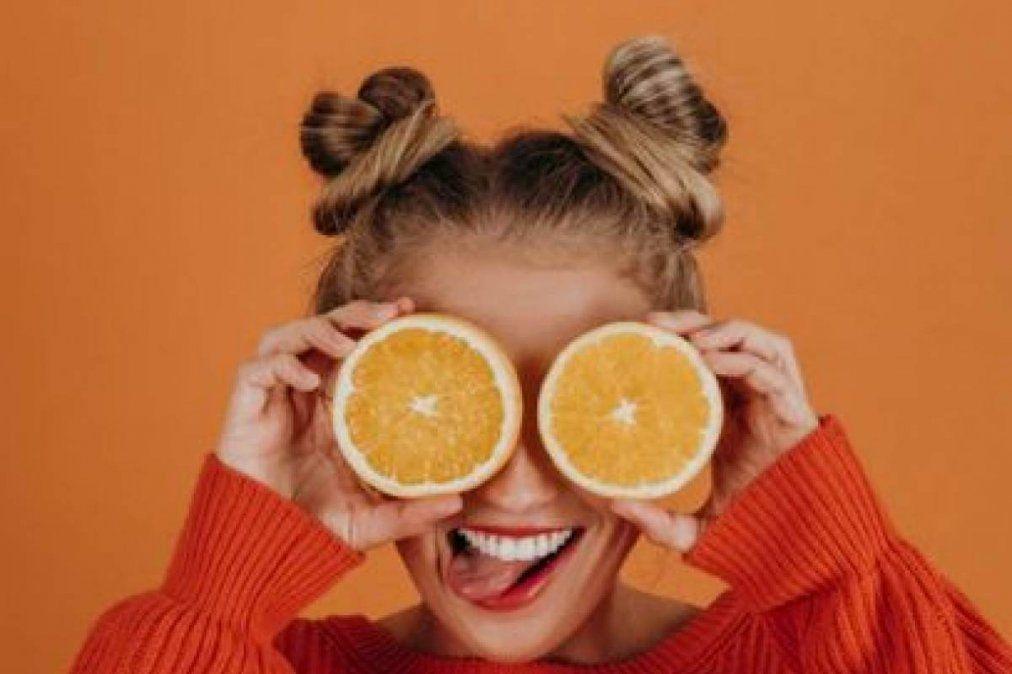 Mascarilla de naranja para tener una piel saludable.