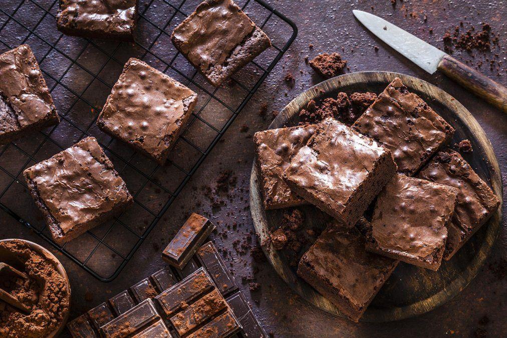 Brownie vegano sin TACC