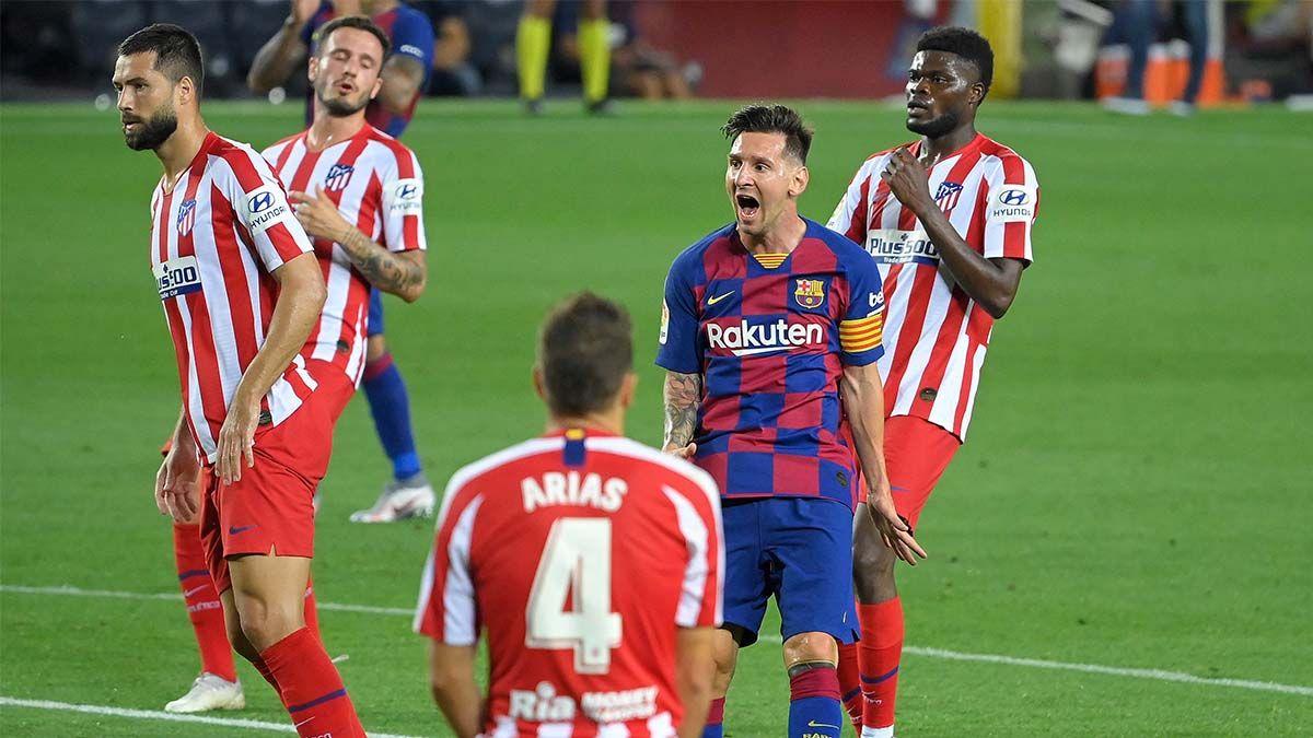 Messi marcó su gol 700al convertir en un penal.