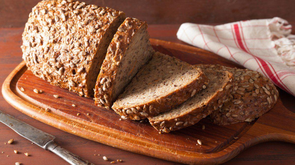 Pan integral con semillas.