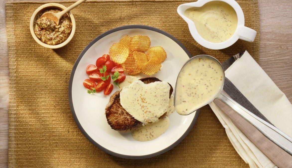 Salsa de mostaza para acompañar todas tus comidas.