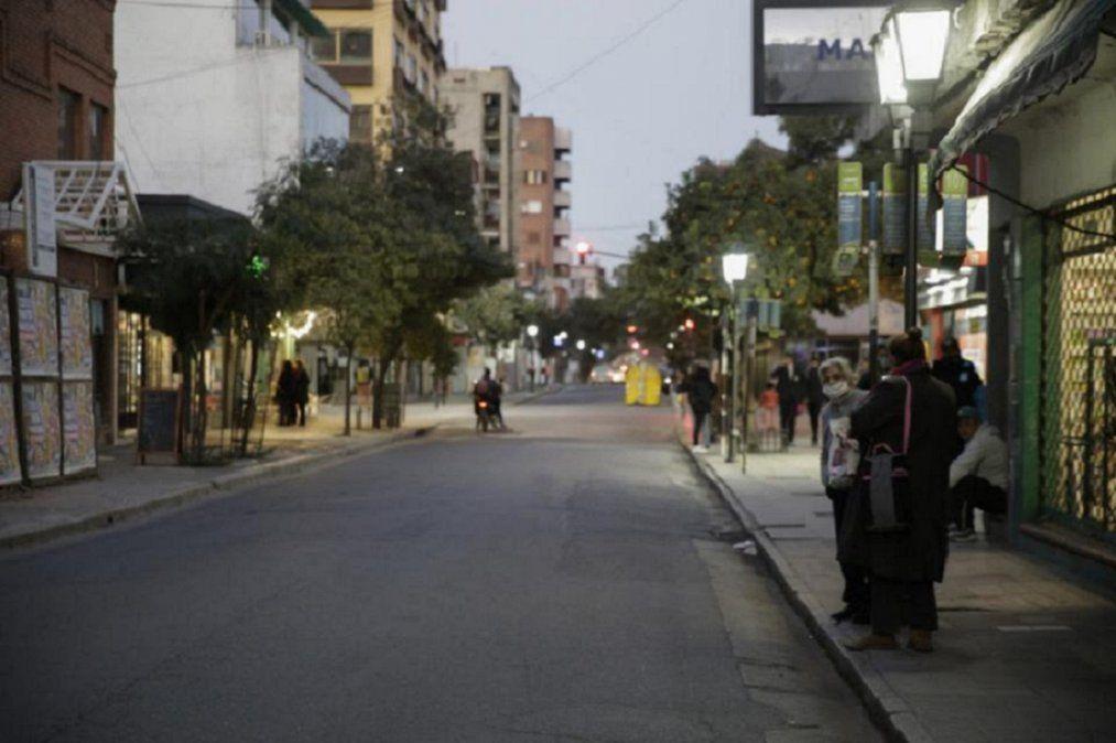 Una calle de la capital tucumana