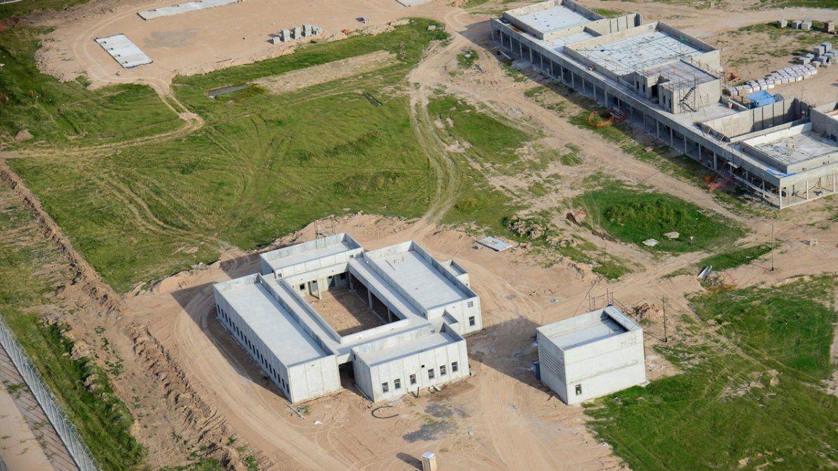 Vista aérea de la construcción del Complejo Penitenciario Federal de Coronda.