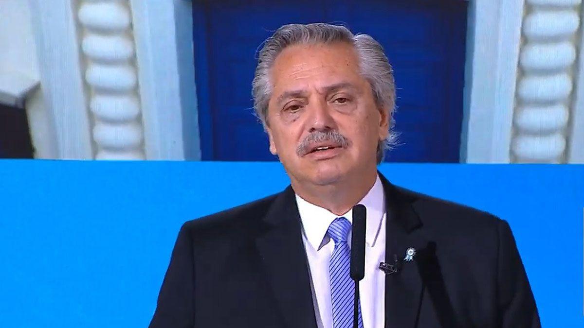 Alberto Fernández en el discurso del Día de la Independencia.
