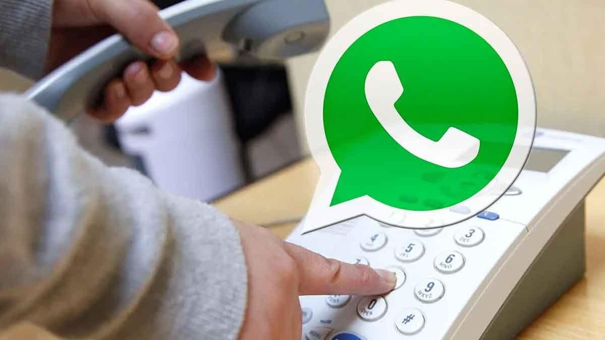 ¿Cómo usar WhatsApp con un número de teléfono fijo?