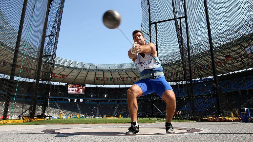 Juan Ignacio Cerra en el estadio Olímpico durante el Mundial de Atletismo de Berlín, en agosto de 2009.