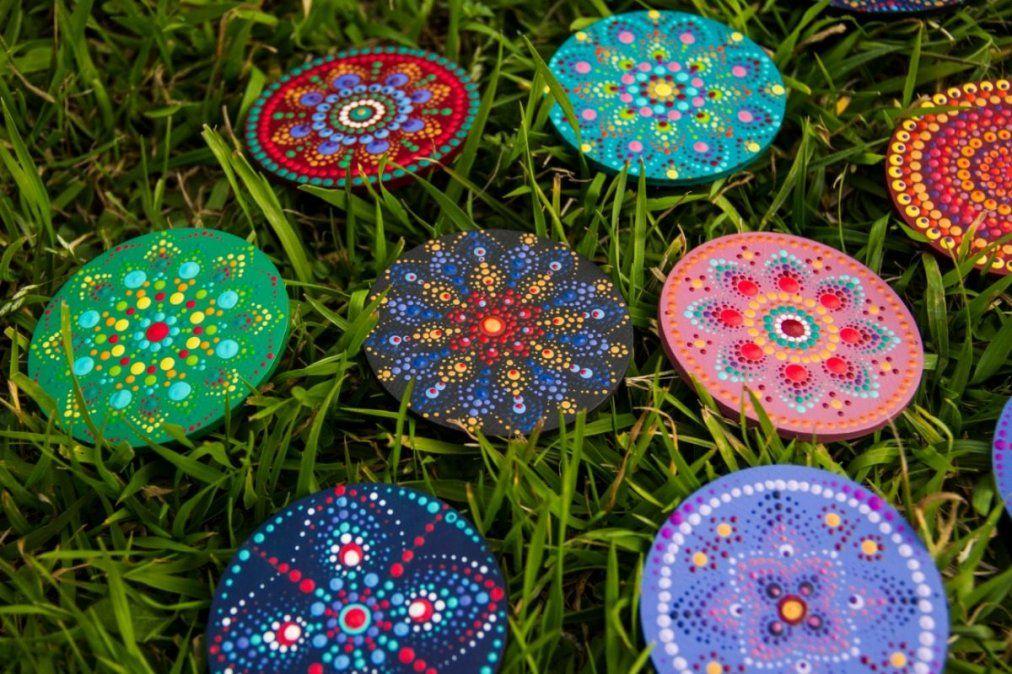 Mandalas energéticos de colores.