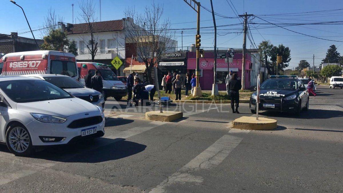 Ambas mujeres fueron trasladadas en ambulancia hasta el Hospital Cullen.