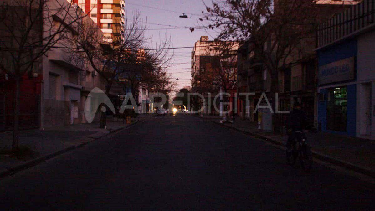 Parte del macrocentro de la ciudad amaneció a oscuras.