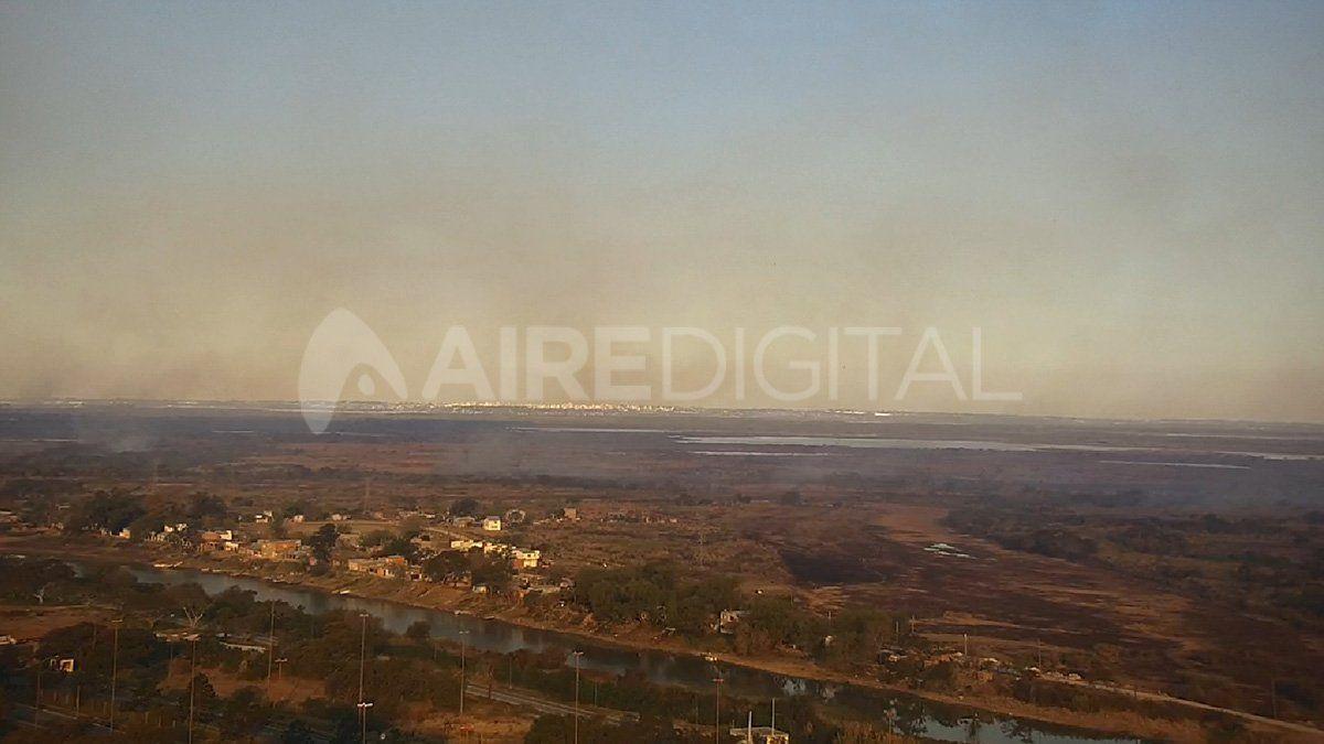 Vista de la ciudad de Santa Fe hacia la zona de la Costa.