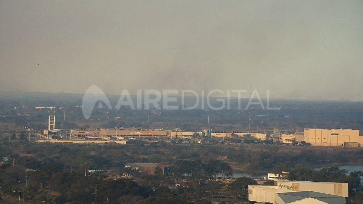 Vista de una de las cámaras de Aire de Santa Fe hacia el centro comercial de ruta 168.