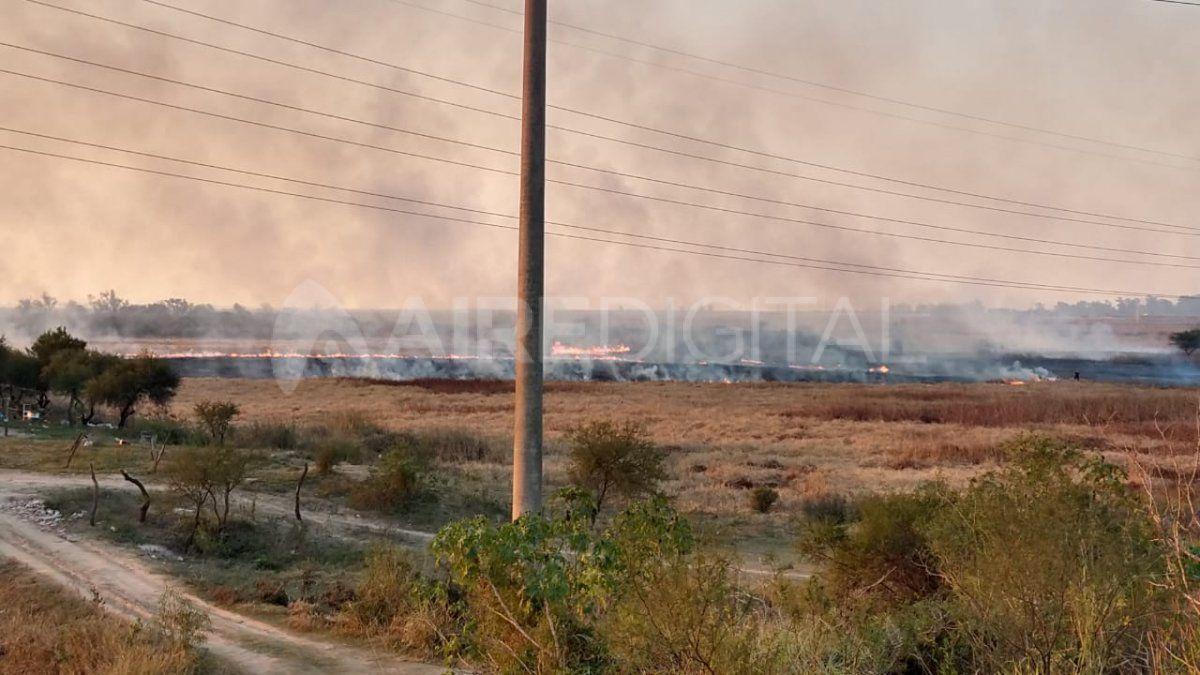 Así se vieron las llamas en zona de La Guardia