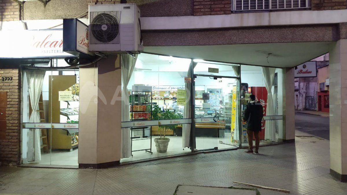 Una de las panaderías asaltadas ubicada en Hipólito Irigoyen y 9 de julio
