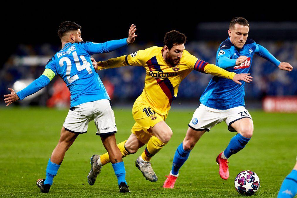 Barcelona enfrentará a Napoli en la revancha de los octavos de final de la Champions League