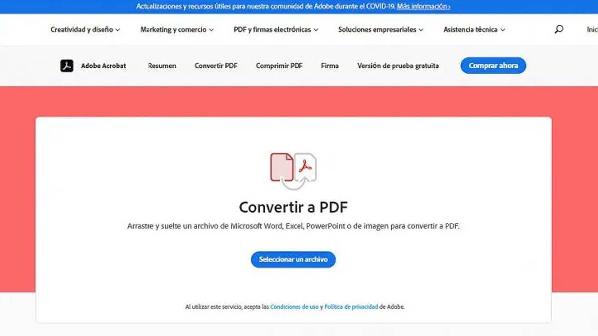 Cómo crear archivos PDF gratis online