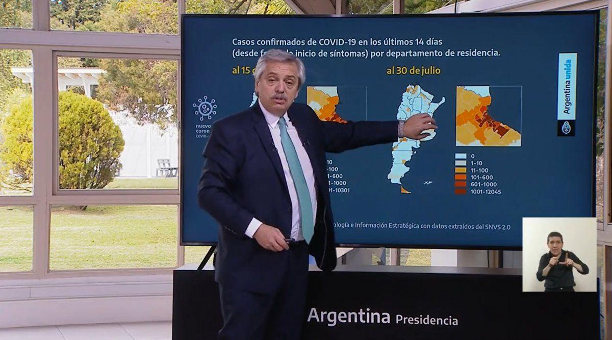 Alberto Fernández analizó la situación del coronavirus en el país.