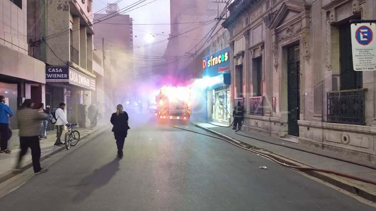 Incendio en una clínica de análisis del microcentro santafesino